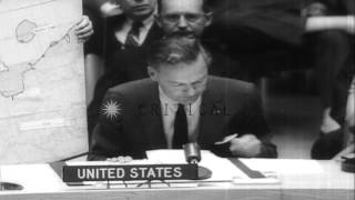 Henry Cabot Lodge debunks Red spy charges during United Nations Security Council ...HD Stock Footage