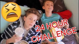 24 Hour Challenge In My Tiny Bedroom! **so stressful**