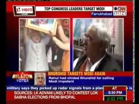 Khurshid compares Narendra Modi to a nursery student