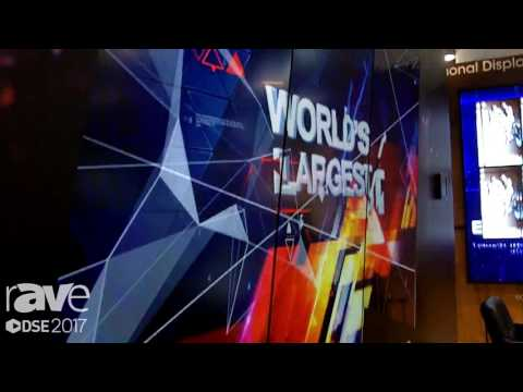 DSE 2017: Sharp Shows Off PN-V701 World's Largest Video Wall Display