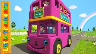 Wheels On The Bus | Kindergarten Nursery Rhymes for Babies