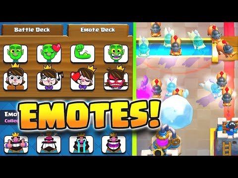 NEW EMOTE DECKS & CARDS | Clash Royale 2018 UPDATE REVIEW!