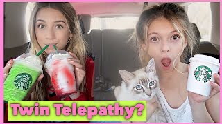 TWIN TELEPATHY STARBUCKS challenge | Letting Starbucks Baristas Pick Our Drinks !