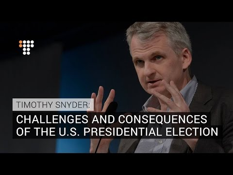 Timothy Snyder On Historic U.S. Presidential Election: Exclusive Interview