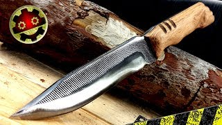 Making Knife From File NO FORGE NEEDED