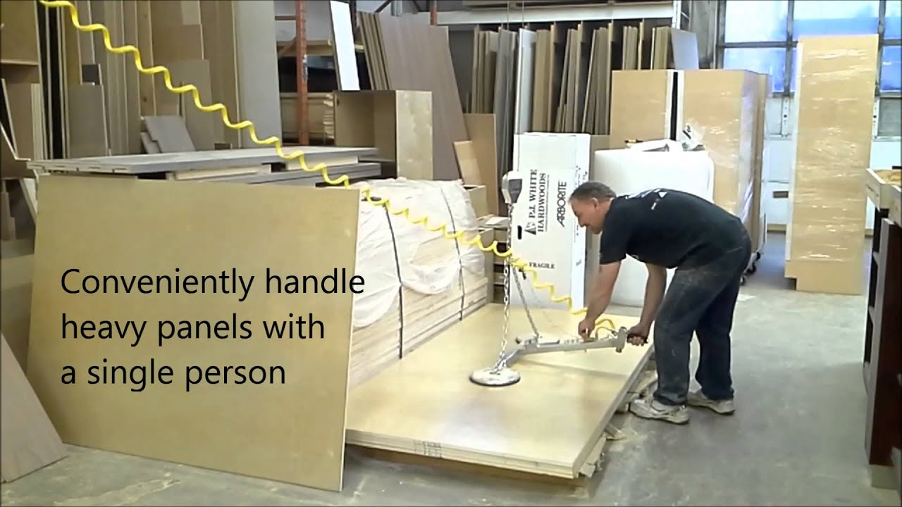 ... Vacuum Panel Lifter from Akhurst Woodworking Machinery - YouTube
