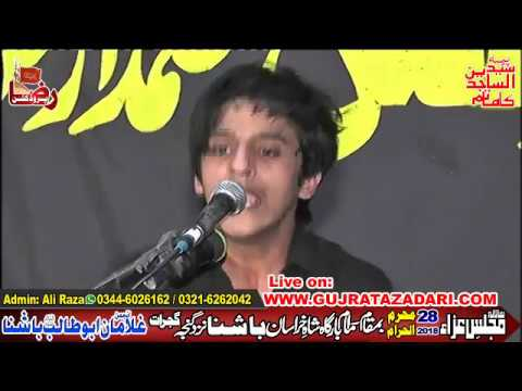 Zakir Ali Abbas Askari | 28 Moharam 2018 | Bashna Gujrat ( www.Gujratazadari.com )