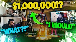 WOULD YOU DO THIS FOR $1,000,000?! MARCEL WOULD!!! (Fortnite: Battle Royale)