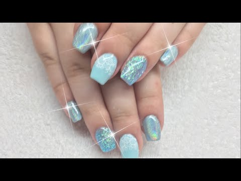 Light blue Holo sparkle design ✨