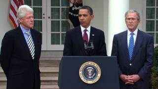 Presidents Obama, Bush, & Clinton: Help for Haiti
