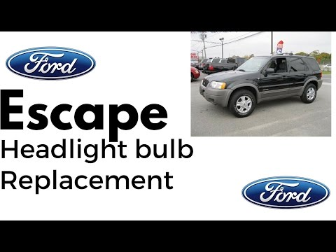 Ford Escape Headlight Bulb Replacement