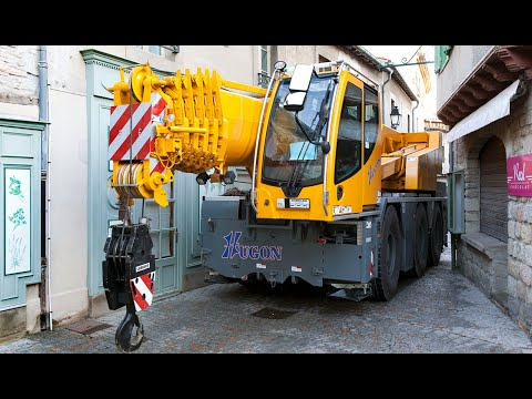 Liebherr - Installation work of a LTC 1045-3.1 Mobile Crane in Carcassonne, France