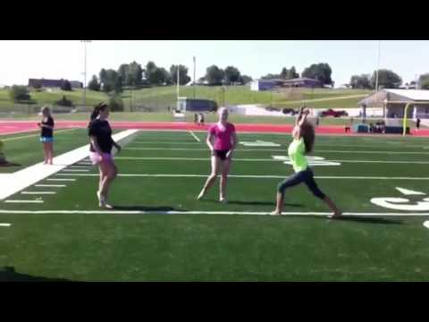 Cheerleader Kicks Herself In The Face