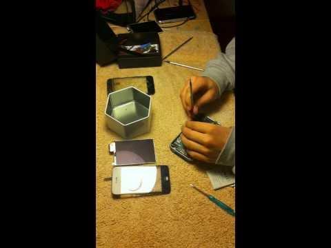 Desmontar iphone 3gs/3g del todo para poder cambiar batería. pantalla. lcd o cualquier cosa