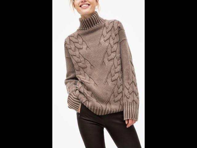 Пуловер с Косой - Вязание Спицами - 2019 / Pullover with Oblique Knitting