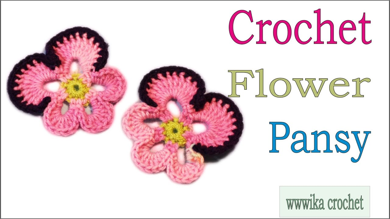 Free Pansy Flower Crochet Pattern  Review  Stitch11