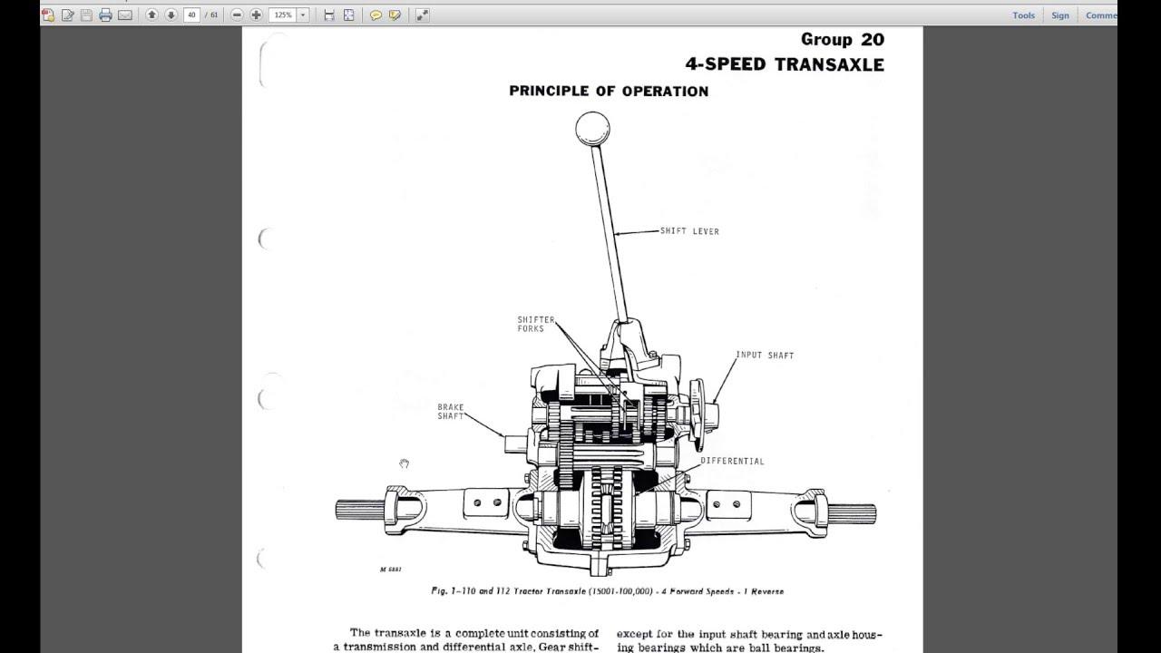 Diagram Of John Deere Tractor Parts Wire Data Schema 820 Fuse Box 110 Mower Garden 4 Speed Peerless 4100