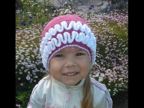 Вязание крючком Летняя шапочка