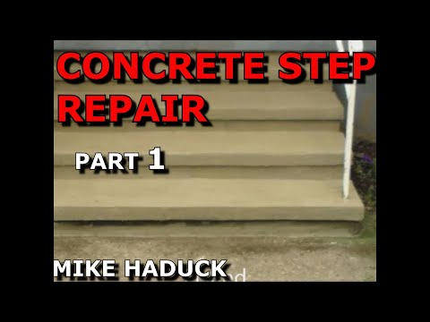 How I repair concrete steps (Part 1 of 5) Mike Haduck - YouTube