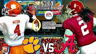 🏈  CFP NATIONAL CHAMPIONSHIP THRILLER! #2 CLEMSON vs. #1 ALABAMA GAMEPLAY! | NCAA FOOTBALL 17