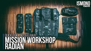 Most modular Carry-On Backpack. Mission Workshop Radian GIVEAWAY