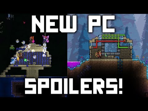 New Terraria 1.2 Spoilers! (Mushroom Biome. Jetpacks. Butterfly Wings. Weapons. and More!)