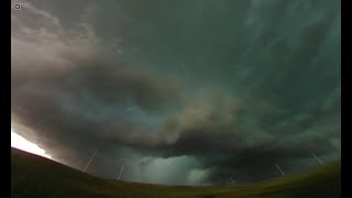 360: MONSTER HP supercell tracks 265 miles from eastern CO to western KS with wind-drive baseballs!