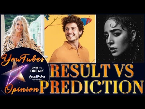 Eurovision 2019: Results vs Prediction (YouTube Opinion)