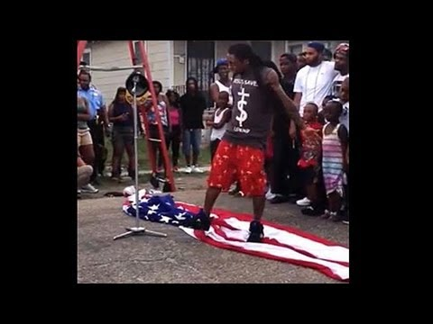 Lil Wayne Didn't Mean To Stomp On That American Flag, Guys video
