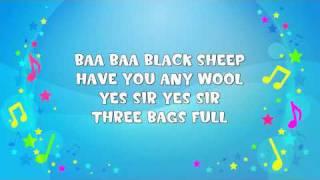 Baa Baa Black Sheep   Sing A Long   Nursery Rhyme   KiddieOK