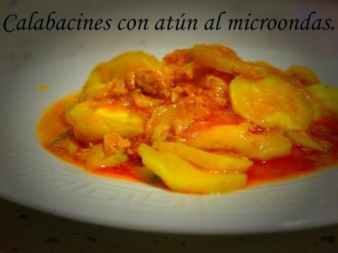 Calabacines con atún al microondas ( receta Ligth)