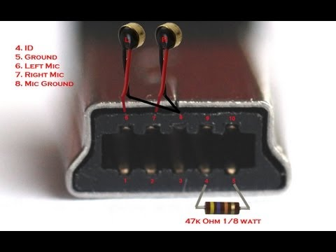 DIY GoPro Hero 3 Waterproof Microphone - Wiring diagram 10 pin mini USB to external mic Hero3 black