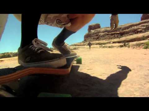 Longboarding Rocks Southern Utah Desert