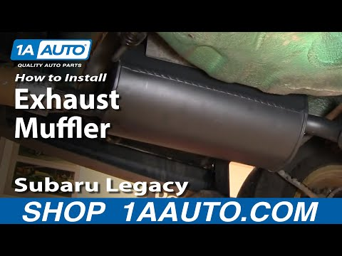 How To Install Replace Noisy Loud Exhaust Muffler Tailpipe Subaru Legacy Outback 96-99 1AAuto.com