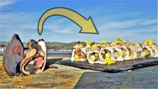 BIG OLE CLAMS Transform into SUSHI Rolls! CATCH AND COOK!!!