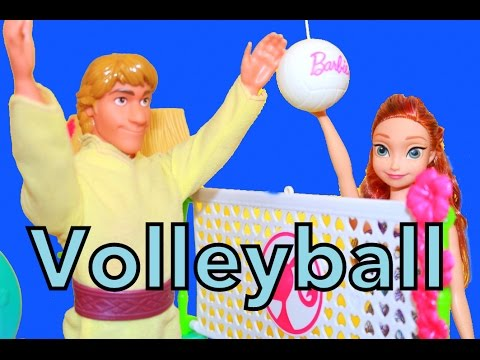 Frozen Anna & Kristoff Barbie AllToyCollector Competition Volleyball...