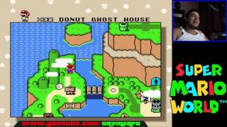 Super Mario World - donut ghost house secreto y truco ( Capitulo 13 ) en español