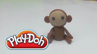 Play-Doh Funny Monkey -  How to Do  with Clay - DIY