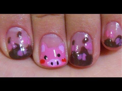 Nail art Tutorial: Pig