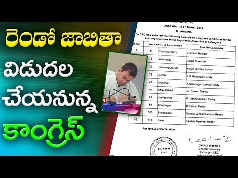 Telangana 2018 | Congress to Release Second List of Candidates today | ABN Telugu