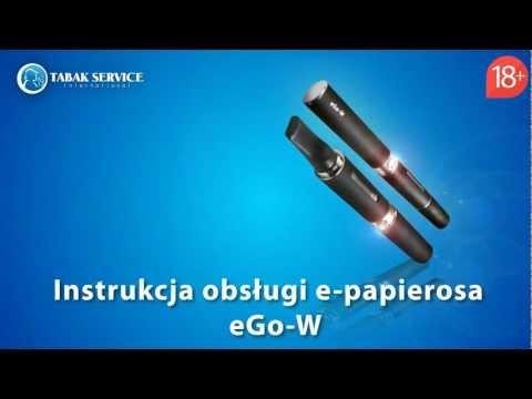 Instrukcja obsługi e-papierosa ego-w