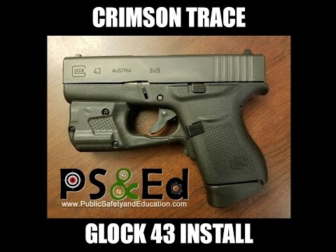 Crimson Trace install on a GLOCK 43