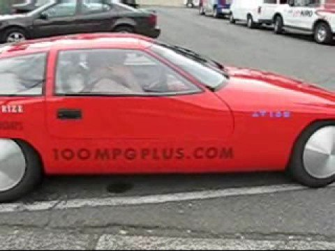 Dori's rides in 100 mpg car