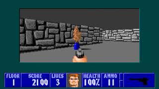 [MS-DOS] Wolfenstein 3D - Floor 1 (Episode III)