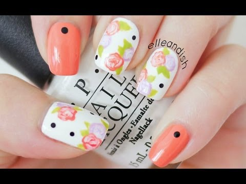 Easy Floral Nails (With A Toothpick!)