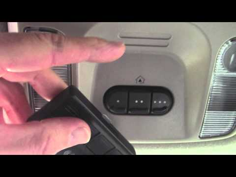 How to program & troubleshoot HomeLink programming Garage Door Opener Buttons - Chrysler Pacifica