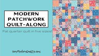 Sew Modern Quilts: Modern Patchwork Quilt Along Announcement