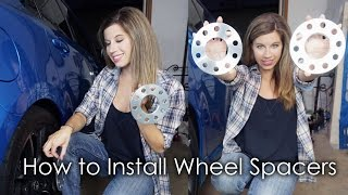 HOW TO INSTALL WHEEL SPACERS!