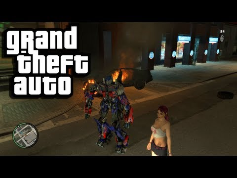 GTA 4 Funny Moments with Mods - TRANSFORMERS IN GTA!