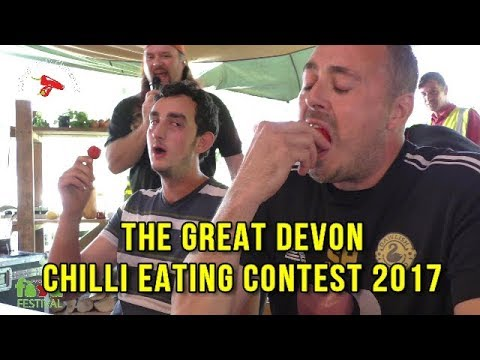 Chilli Eating Contest - Powderham Food Fest - Sunday 8th Oct 2017